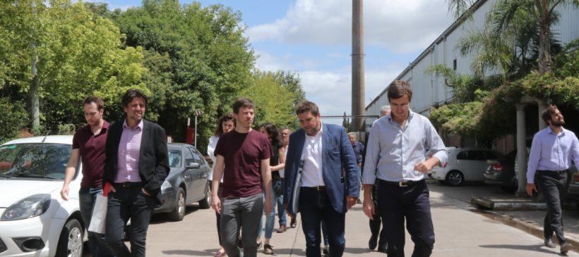 Visita del Ministro de Producción de la provincia de Buenos Aires Augusto Costa y el Intendente Lucas Ghi al Parque Industrial la Cantábrica