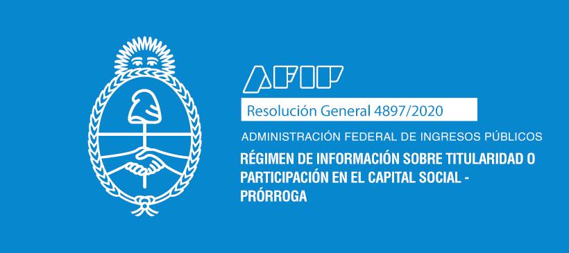 AFIP: Régimen de información sobre titularidad o participación en el capital social – Prórroga