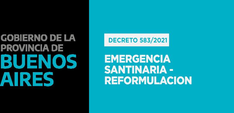 PROVINCIA DE BUENOS AIRES: Emergencia Sanitaria – Reformulación.