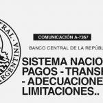 BCRA: Sistema Nacional de Pagos – Transferencias –  Adecuaciones – Limitaciones.