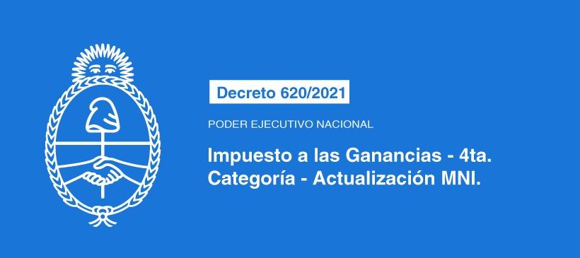 Poder Ejecutivo Nacional: Impuesto a las Ganancias – 4ta. categoría – Actualización MNI